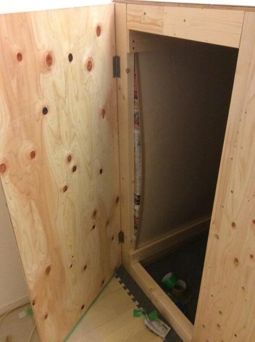 防音室の外枠完成