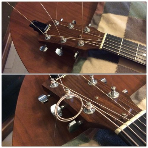 弦交換で伸びたままの弦の処理