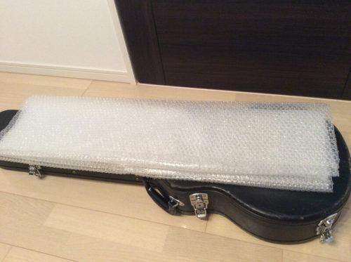 プチプチとギターケース