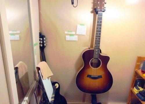 ギターを保管する様子