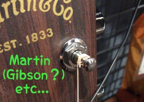 マーチン巻きのギター