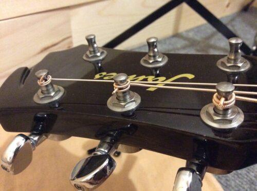 3つの方法で巻かれた弦