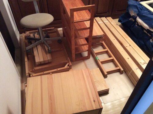 木材の引っ越し準備1