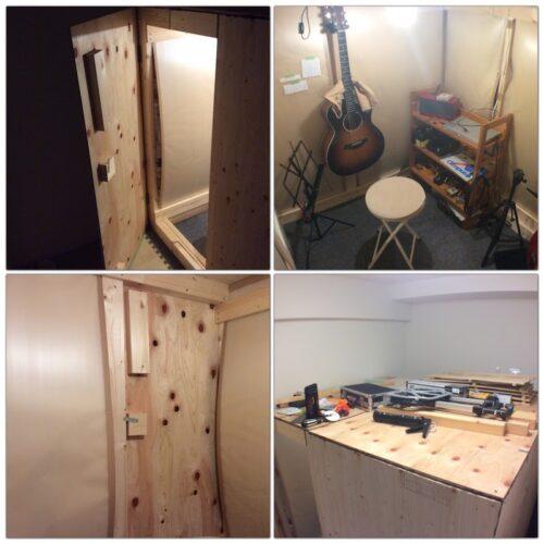 使用していた防音室
