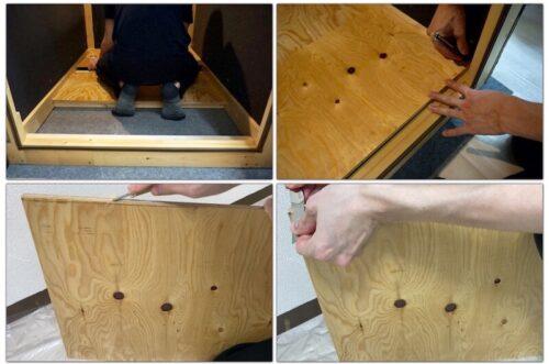 床板のサイズ調整