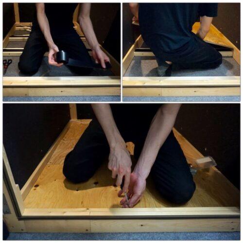 床板の取り付けと固定